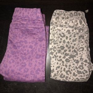 Other - Two Pairs of Leopard Print Jeans